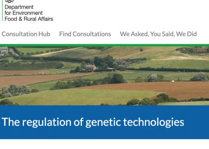 Short statement on Defra 'gene technology' consultation